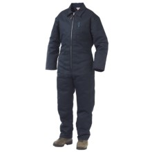 Work King Twill Coveralls - Insulated (For Men) in Navy - 2nds