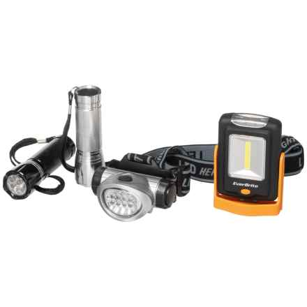 WorkPro EverBrite Flashlight Combo Pack - 4-Piece in See Photo - Closeouts