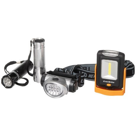 WorkPro EverBrite Flashlight Combo Pack - 4-Piece in See Photo