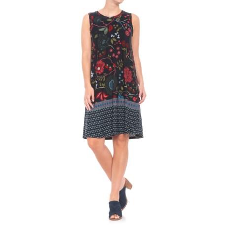 Workshop Dress Jersey Knit Dress - Sleeveless (For Women) in Floral Print