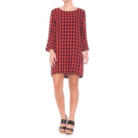 0332736d44e Workshop Dress Ruffle Sleeve Back Tie Dress - 3 4 Sleeve (For Women)