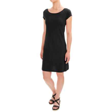 Workshop Dresses A-Line Jersey Dress - Short Sleeve (For Women) in Black - Closeouts