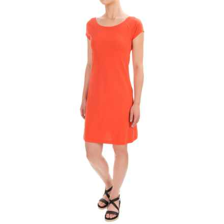Workshop Dresses A-Line Jersey Dress - Short Sleeve (For Women) in Chile Pepper - Closeouts