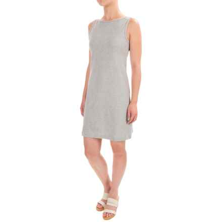 Workshop Dresses A-Line Jersey Dress - Sleeveless (For Women) in Mist Grey Heather - Closeouts