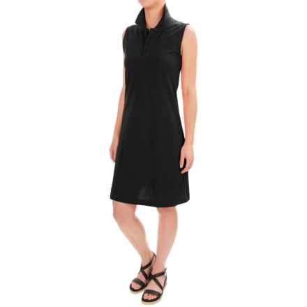 Workshop Dresses Cotton-Pique Polo Dress - Sleeveless (For Women) in Black - Closeouts