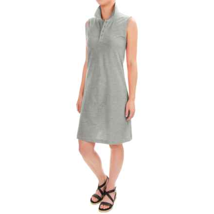 Workshop Dresses Cotton-Pique Polo Dress - Sleeveless (For Women) in Mist Grey Heather - Closeouts