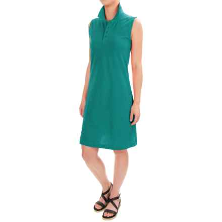 Workshop Dresses Cotton-Pique Polo Dress - Sleeveless (For Women) in Rio Frio - Closeouts