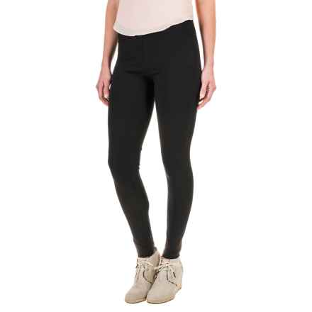 Workshop Republic Clothing Ankle Leggings - Cotton-Modal (For Women) in Black - Closeouts
