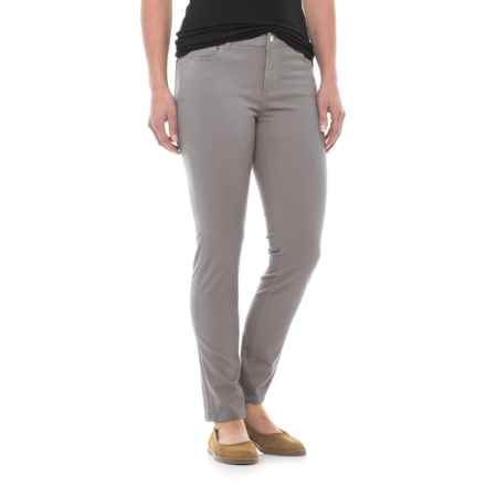 Workshop Republic Clothing Ankle Pants - Cotton Blend (For Women) in Smoke Grey - Closeouts