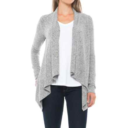 Workshop Republic Clothing Brushed Cardigan Sweater (For Women) in Heather Grey Spacedye - Closeouts