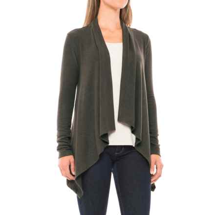 Workshop Republic Clothing Brushed Cardigan Sweater (For Women) in Olive - Closeouts