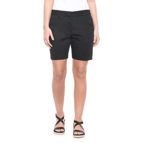 Workshop Republic Clothing Chino Shorts (For Women) in Black