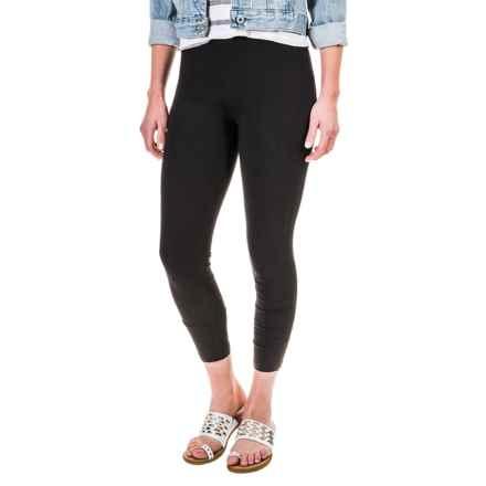 Workshop Republic Clothing Crop Leggings - Cotton-Modal (For Women) in Black - Closeouts