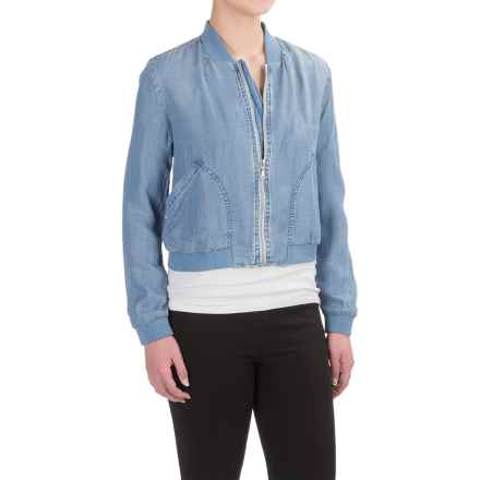 Workshop Republic Clothing Crosshatch Jacket - TENCEL® (For Women) in Medium Blue - Closeouts