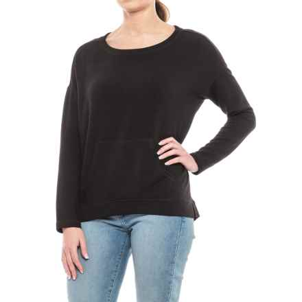 Workshop Republic Clothing Drop Shoulder Sweater (For Women) in Black - Closeouts