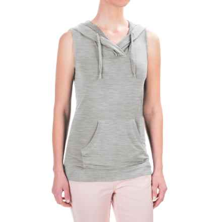 Workshop Republic Clothing French Terry Hoodie Shirt - Sleeveless (For Women) in Heather Grey - Closeouts