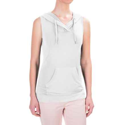 Workshop Republic Clothing French Terry Hoodie Shirt - Sleeveless (For Women) in White - Closeouts
