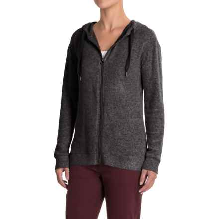 Workshop Republic Clothing Hoodie - Full Zip (For Women) in Black Charcoal Heather Spacedye - Closeouts