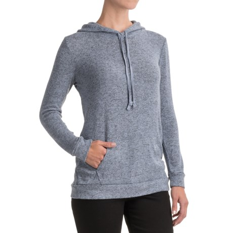 Workshop Republic Clothing Knit Hoodie (For Women) in Blue Heather