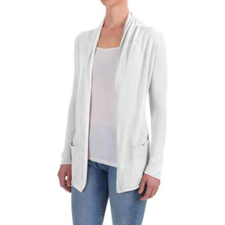 Workshop Republic Clothing Open-Front Cardigan Shirt - Long Sleeve (For Women) in White - Closeouts