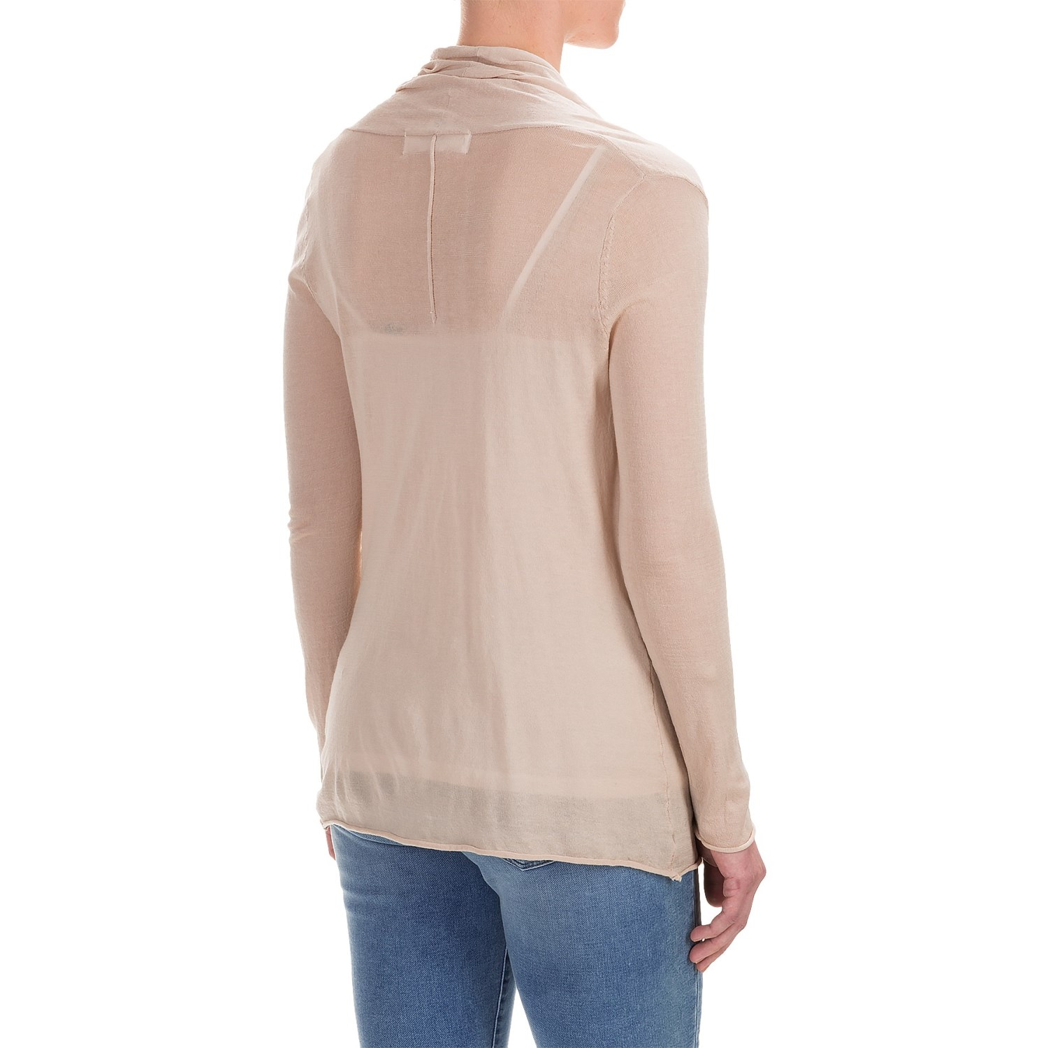 Workshop republic clothing open front cardigan shirt for for Long sweaters and shirts