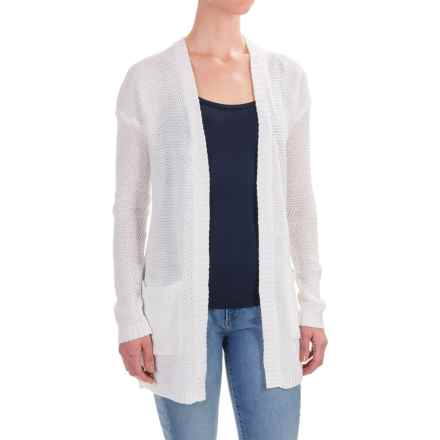 Workshop Republic Clothing Open-Front Cardigan Sweater (For Women) in Bleach White - Closeouts