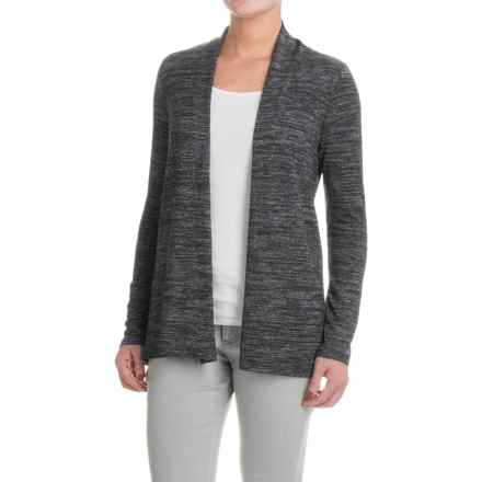 Workshop Republic Clothing Open-Front Cardigan Sweater (For Women) in Charcoal/Off White - Closeouts