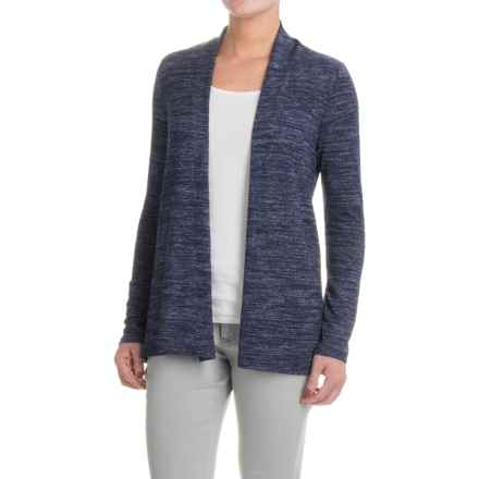 Workshop Republic Clothing Open-Front Cardigan Sweater (For Women) in Navy/Silver Spacedye - Closeouts