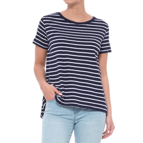 Workshop Republic Clothing Pleated High-Low Shirt - Short Sleeve (For Women)