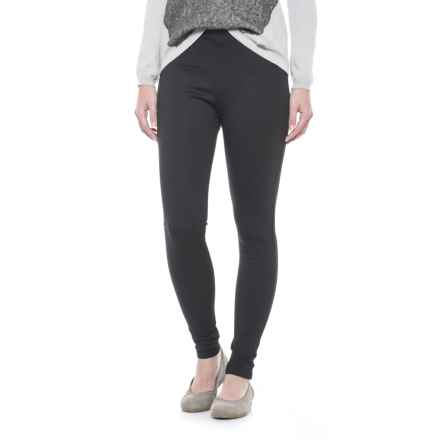 Workshop Republic Clothing Ponte Knit Leggings (For Women) in Black - Closeouts