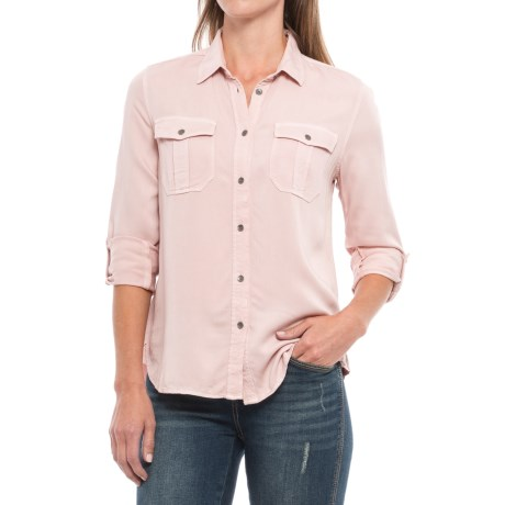 Workshop Republic Clothing Roll-Tab Twill Shirt - Long Sleeve (For Women) in Rose