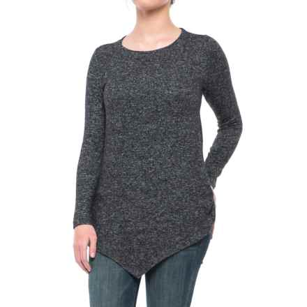 Workshop Republic Clothing Sharkbite Tunic Sweater (For Women) in Dark Charcoal Heather - Closeouts