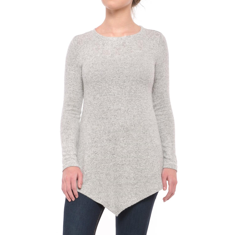 Workshop Republic Clothing Sharkbite Tunic Sweater (For Women ...