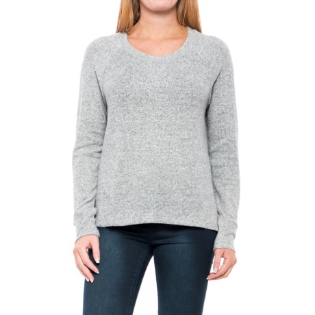 Workshop Republic Clothing Split-Hem Shirt - Long Sleeve (For Women) in Grey Cloud Heather