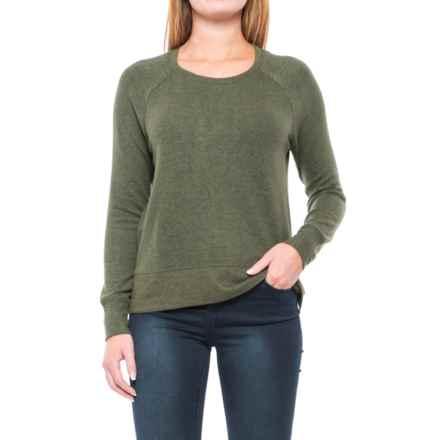 Workshop Republic Clothing Split-Hem Shirt - Long Sleeve (For Women) in Olive - Closeouts
