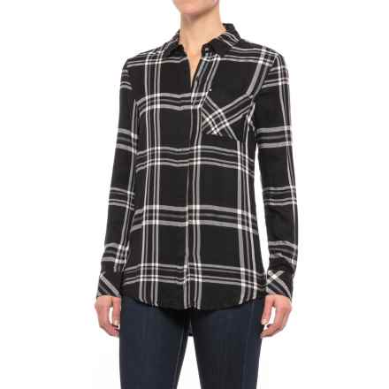 Workshop Republic Clothing Studded Pocket Plaid Shirt - Long Sleeve (For Women) in Box Plaid - Closeouts