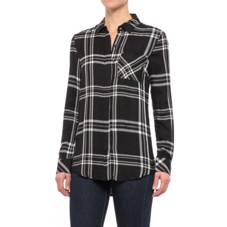 Workshop Republic Clothing Studded Pocket Plaid Shirt - Long Sleeve (For Women) in Box Plaid
