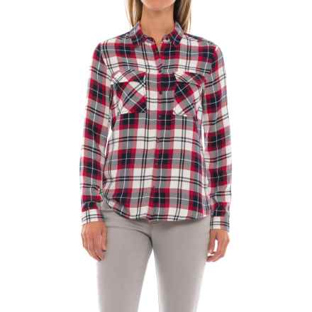 Workshop Republic Clothing Studded Pockets Plaid Shirt - Long Sleeve (For Women) in Plaids - Closeouts
