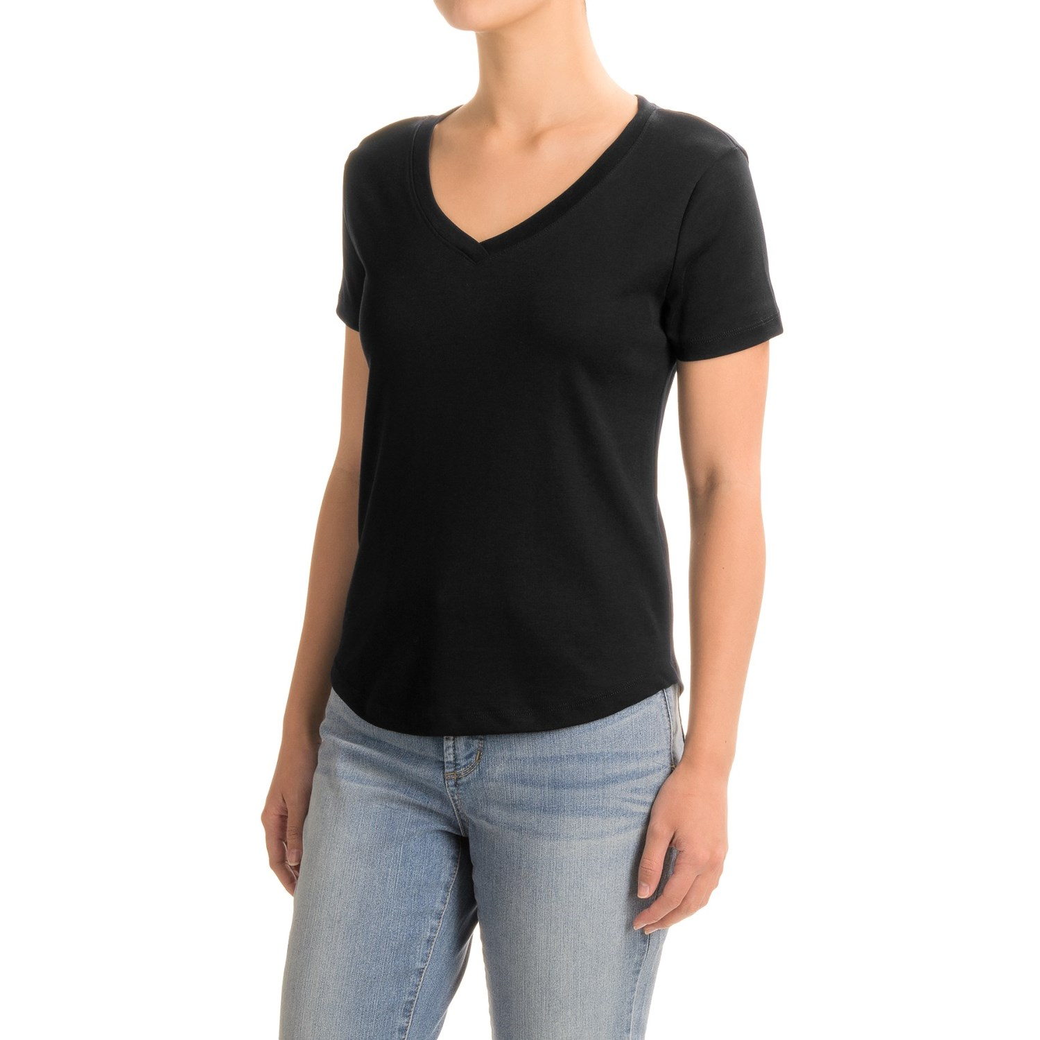 Black t shirts v neck - Workshop Republic Clothing Supima Cotton T Shirt V Neck Short Sleeve