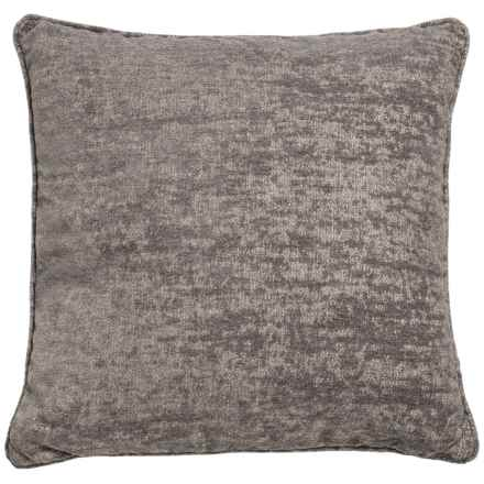 "World Wide Fabric Aiden Chenille Decor Pillow - 20x20"" in Grey - Closeouts"