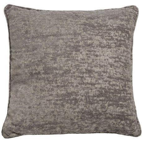 "World Wide Fabric Aiden Chenille Decor Pillow - 20x20"" in Grey"