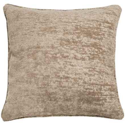 """World Wide Fabric Aiden Chenille Decor Pillow - 20x20"""" in Mocha - Closeouts"""