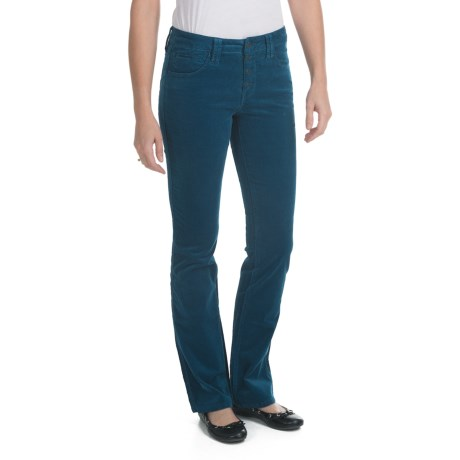 Worn Camilla Pinwale Corduroy Jeans - Button Fly, Bootcut (For Women) in Great Lake Md Blue