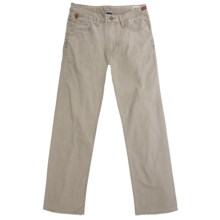 Worn Denim Jeans - Coated Cotton Canvas, Straight Leg (For Men) in Khaki - Closeouts