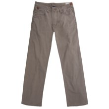 Worn Denim Jeans - Coated Cotton Canvas, Straight Leg (For Men) in Wet Sand - Closeouts