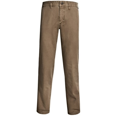Worn Garment-Dyed Relaxed Fit Pants (For Men) in Forest