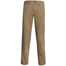Worn Garment-Dyed Relaxed Fit Pants (For Men) in Vintage Khaki - Closeouts