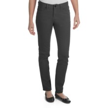 Worn Poppy Colored Skinny Jeans - Piece-Dyed Denim (For Women) in Black - Closeouts