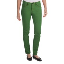 Worn Poppy Colored Skinny Jeans - Piece-Dyed Denim (For Women) in Four Leaf Clover - Closeouts