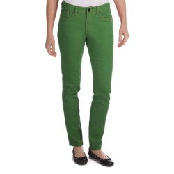 Worn Poppy Colored Skinny Jeans - Piece-Dyed Denim (For Women) in Four Leaf Clover